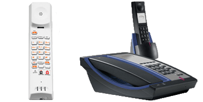 Cordless hotel phones